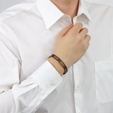 Titan-Armband mit Rosenholz-2