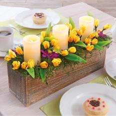 Frühlings-Deko mit LED-Kerzen-2