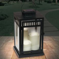 Solarlaterne mit 3 LED-Kerzen-2