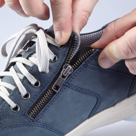 Aircomfort-Sneaker mit Reißverschluss