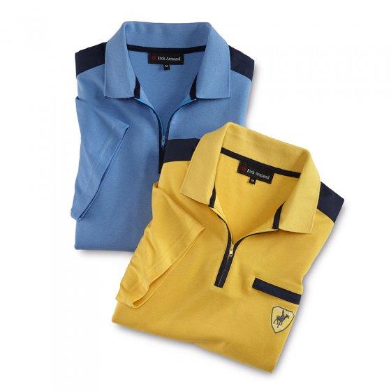 Interlock-Shirt mit Zipperkragen