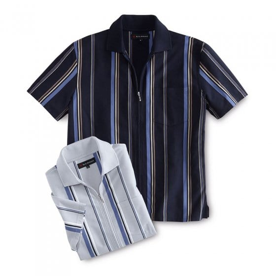 Poloshirt mit Ganzreißverschluss
