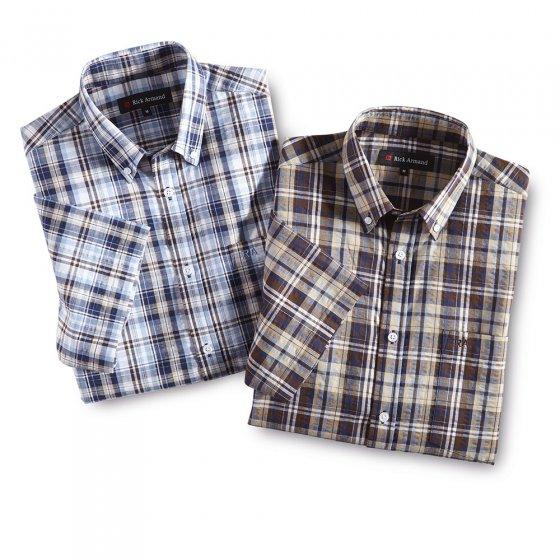 Sommerliches Seersucker-Hemd