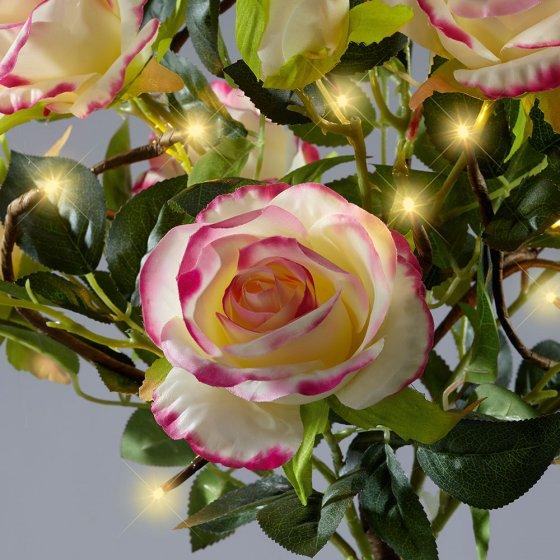 Großer LED-Rosenstrauch