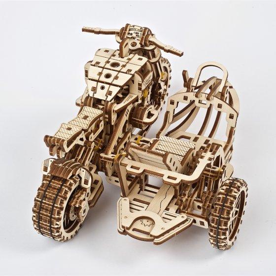Holzmodell Motocross-Bike