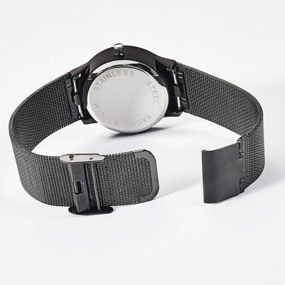 """Flache Solar-Armbanduhr  """"Noir"""""""