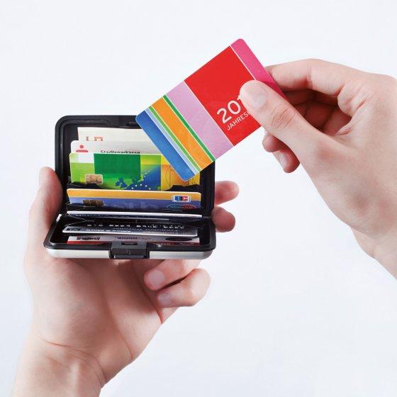 Aluminium-Kartenbörse