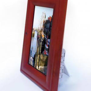 digitaler holz bilderrahmen g nstig bei eurotops bestellen. Black Bedroom Furniture Sets. Home Design Ideas