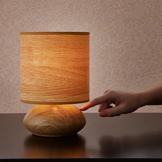 touch leuchte im holz dekor g nstig bei eurotops bestellen. Black Bedroom Furniture Sets. Home Design Ideas