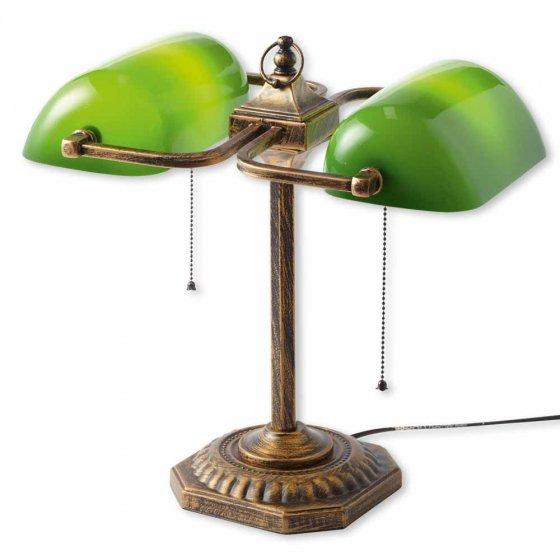 Doppel-Bankierslampe
