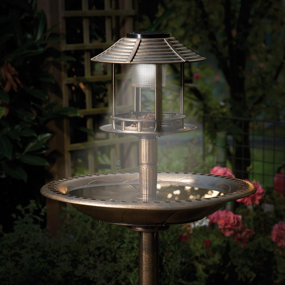 Solar-Vogelstation mit Pflanzschale