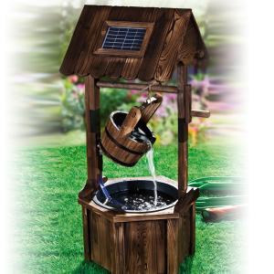 solar ziehbrunnen aus holz g nstig bei eurotops bestellen. Black Bedroom Furniture Sets. Home Design Ideas