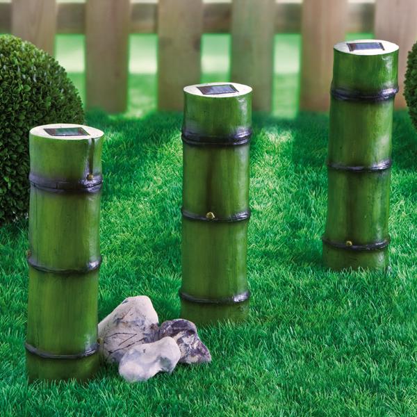 solar gartenlampen bambus g nstig bei eurotops bestellen. Black Bedroom Furniture Sets. Home Design Ideas
