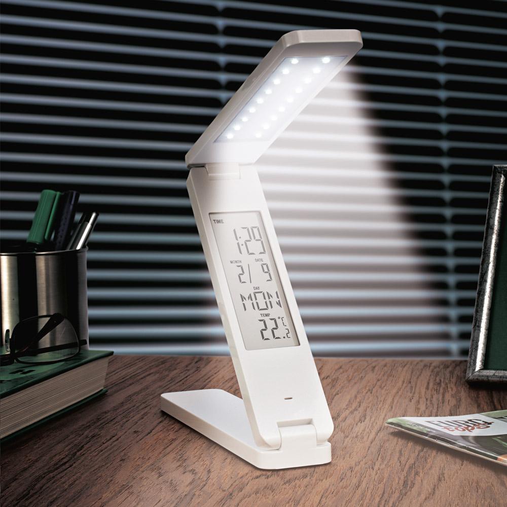 led tageslichtlampe mit uhr g nstig bei eurotops bestellen. Black Bedroom Furniture Sets. Home Design Ideas