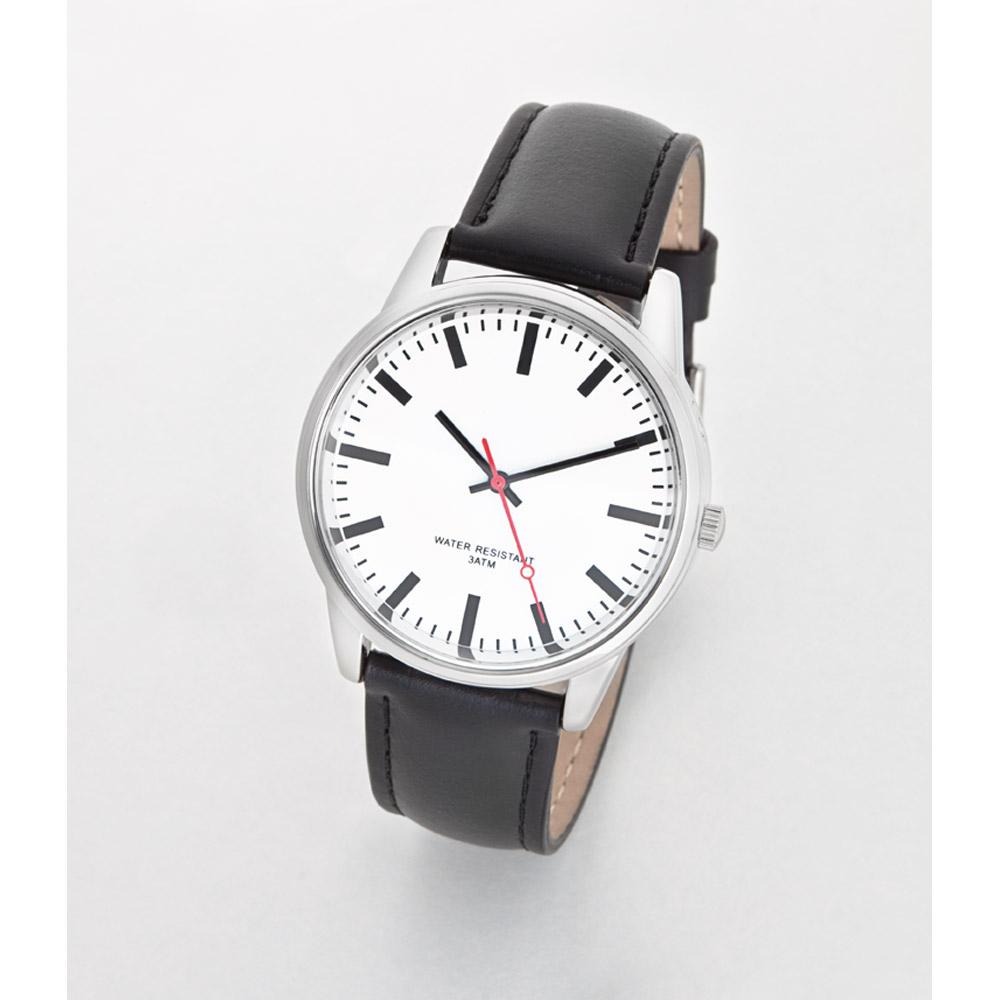 """Armbanduhr zeichnung  Funk-Armbanduhr """"Bahnhof"""" günstig bei EUROtops bestellen"""